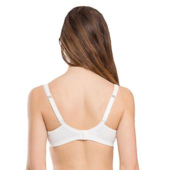 Maison Lejaby G51542-801 Women's Hanae Lily White Lace Non-Padded Non-Wired Soft Bra