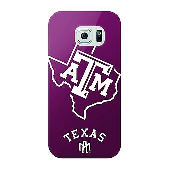 5 Pack - Mizco NCAA Oversized Snapback TPU Case for Galaxy S6 (Texas A&M Aggies)