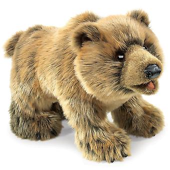 Hand Puppet - Folkmanis - Bear Grizzly Animals Soft Doll Plush 2954