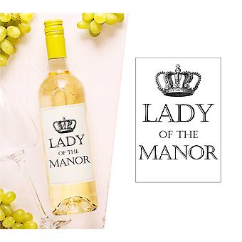 Lady Of The Manor Wine Bottle Label (en anglais)