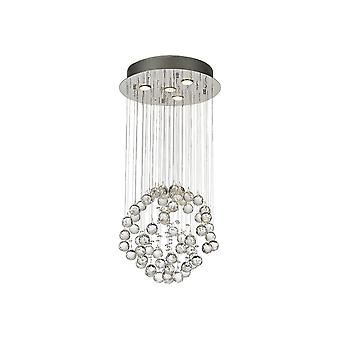 Diyas Colorado Pendant Small Sphere 4 Light Polished Chrome/Crystal