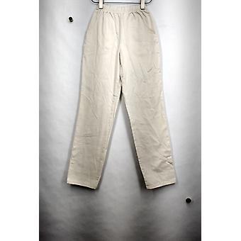 Denim & Co. bukser original talje stretch regelmæssig elfenben A53351