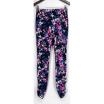 Slimming Options for Kate & Mallory Leggings Ruched Side Pull-On Blue A426083