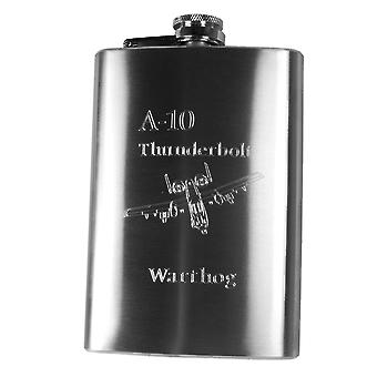 8oz a10 thunderbolt warthog hip flask router