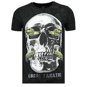 Skull Snake - Fat T-Shirt - 6326Z - Black