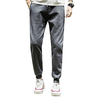 Pantalon Allthemen Men-apos;s Thickened Warm Cotton Solid Casual Long Pants