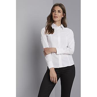 Simon Jersey Long Sleeve Concealed Blouse