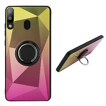 Bagcover ring/magnet Aurora Samsung A50 guld + pink