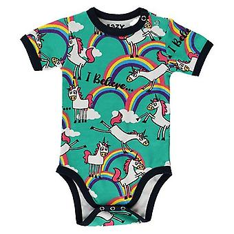 LazyOne Baby Girls Unicorn Bodysuit