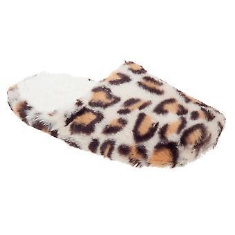 Slumberzzz Womens/Ladies Leopard Mule Slippers