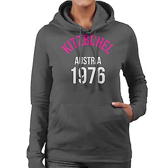 Kitzbuhel Austria 1976 Skiing Women's Hooded Sweatshirt