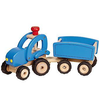 Holz Traktor mit Anhänger