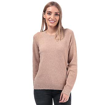 Womens Vero Moda Doffy Lurex Crew Neck Jumper In Tobacco Brown