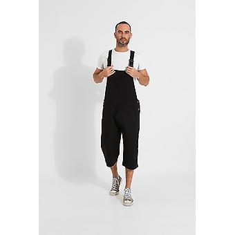 Christopher relaxed fit dungaree shorts-zwart