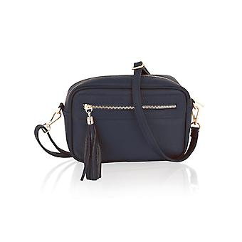 """9.0"""" Small Cross Body Bag Central Zip Compartment Adjustable Removeable Shoulder Strap"""