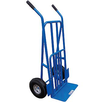 Charles Bentley 270kg Heavy Duty Folding Trolley/Sack Truck with Pneumatic Tyre
