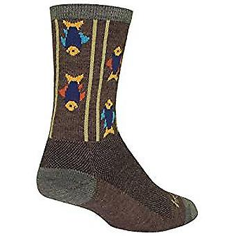 Chaussettes - Sockguy - 6'quot; Wool Crew Upstream S/M Cycling/Running