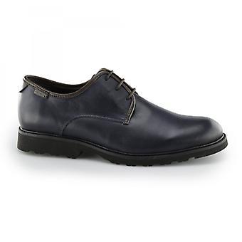 Pikolinos Glasgow heren lederen Derby schoenen blauw/Olmo
