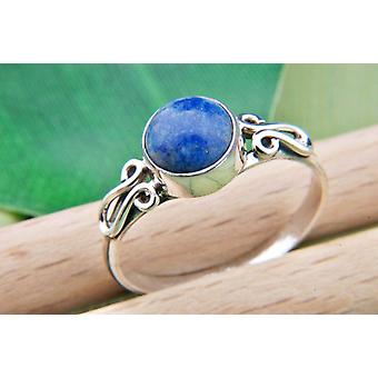 Lapis Lazuli Ring 925 Silver Sterling Silver Silver Women's Ring Blue (IRM 60-06)