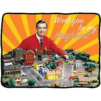 Blanket - Mister Rogers - Wont You Be My Neighbor New cfbf-mr-town