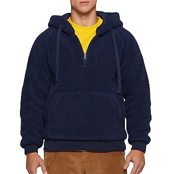 Allthemen Men's Solid Drawstring Casual Hooded Shirt