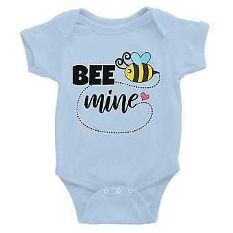 Bee Mine blauw baby jumpsuit Romper schattige baby jongen gift van de verjaardag