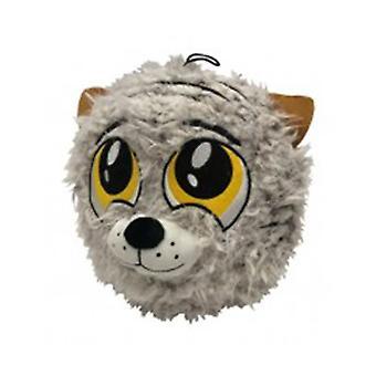 "Petlou 9"" PL Fuzzy Ball Tiger Dog Toy"