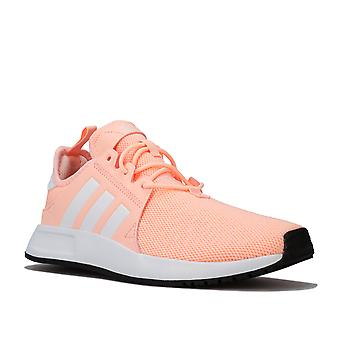 Junior Girls adidas Originals X_Plr Trainers In Pink- Pull Tab To Heel- Lace