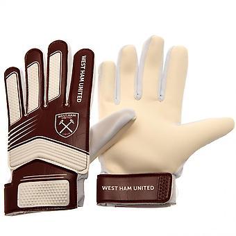 West Ham United FC Kids Goalkeeper Gloves
