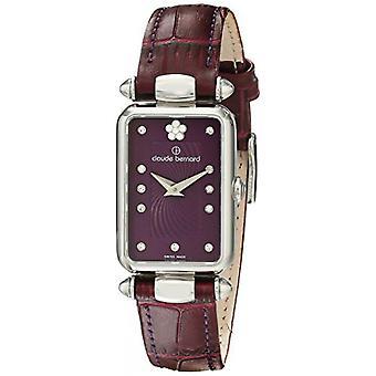 Watch Switzerland Claude Bernard 20502-3 VIOP2 - shows purple Bracelet leather woman