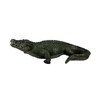 21 tommer Alligator Statue Gator haven udendørs figur