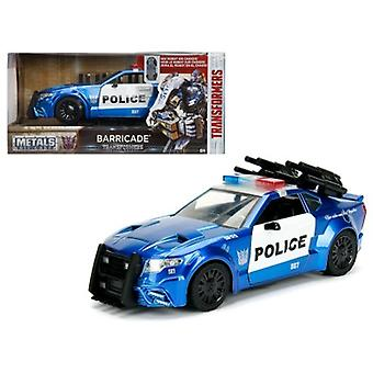 Barricade Custom Police Car From \Transformers\ Movie 1/24 Diecast Model Car By Jada Metals
