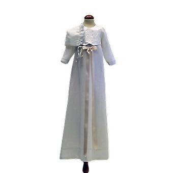 Dopklänning Med Dophätta Och Off White Rosett. Grace Of Sweden