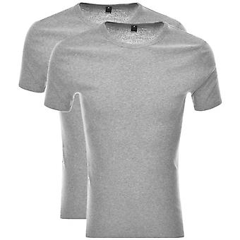 G-Star 2 Pack Basic Cotton Grey Heather T-shirt