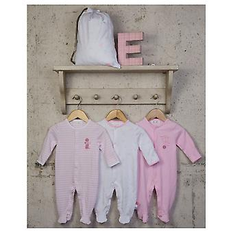 The Essential One Baby Girls Pastel Sleepsuits - 3 Pack