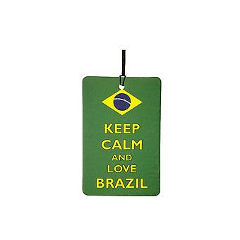 Keep Calm And Love Brazil Car Air Freshener