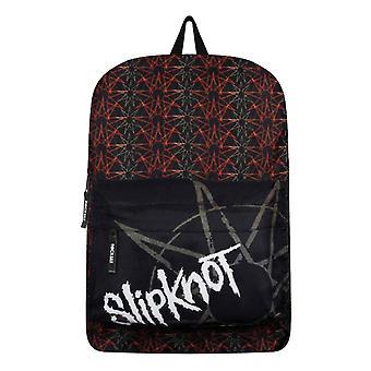 Slipknot ryggsekk Pentagram hele print band logo nye offisielle Black
