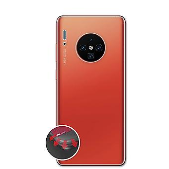 atFoliX 3x Protective Film compatible with Huawei Mate 30 Backcover Screen Protector clear&flexible