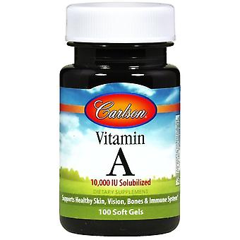 Carlson Labs Vitamin A Solubilized 10000 IU 100 Soft Capsules