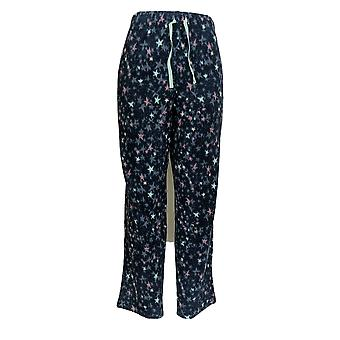 Cuddl Duds Women's Petite Pajama Pants Fleece Stretch Novelty Blue A371298