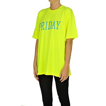 Alberta Ferretti Ezgl095033 Dames's Geel Katoen T-shirt