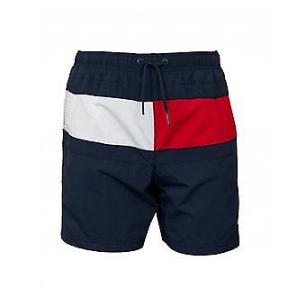 Tommy Hilfiger Flagga Front Dragsko Swim Shorts