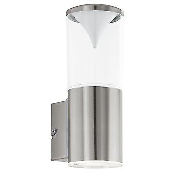 Eglo Penalva - LED luz de pared al aire libre acero inoxidable IP44 - EG94811