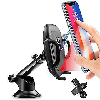 2 w 1 10w qi bezprzewodowa ładowarka szybkie ładowanie indukcyjnej wentylacji powietrza na podczerwień panelowy uchwyt na telefon samochodowy dla 4.0-6.5 calowy inteligentny telefon iPhone xiaomi