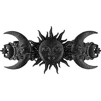 Restyle - sun and moon hairclip - black