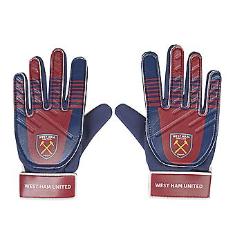 West Ham United FC Official Football Gift Kids Youths Goalkeeper Goalie Gloves