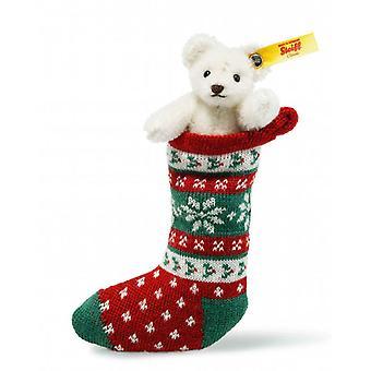 Steiff Mini Nalle i Christmas stocking 8 cm