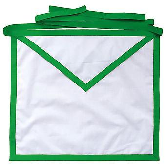 Allied masonic degree amd white cotton duck cloth member apron