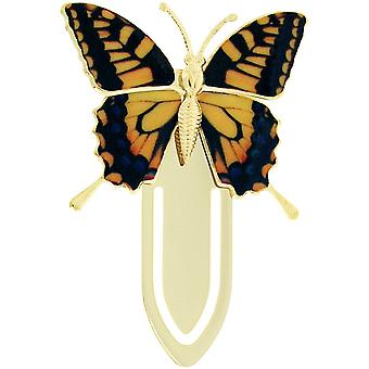 The Olivia Collection Goldtone Brown & Gold Butterfly Bookmark SC1226