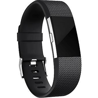 Fitbit Charge 2 Pulsera Silicona Negro (L)